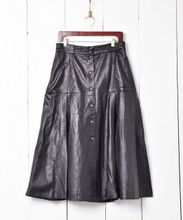 古着レザー フレアスカート 古着のネット通販 古着屋グレープフルーツムーン