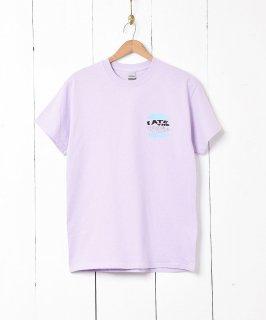 古着【2色展開】ハンバーガー メッセージ プリントTシャツ パープル 古着のネット通販 古着屋グレープフルーツムーン