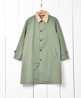 古着【2色展開】「Backers」コーディロイ襟  ステンカラーコート オリーブ 古着のネット通販 古着屋グレープフルーツムーン