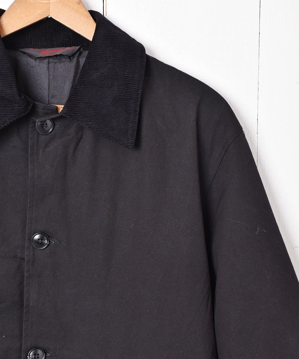 【2色展開】「Backers」コーディロイ襟  ステンカラーコート  ブラックサムネイル