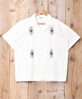古着【3色展開】「BACKERS」 キューバシャツ ホワイト 古着のネット通販 古着屋グレープフルーツムーン
