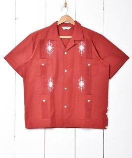 古着【3色展開】「BACKERS」キューバシャツ レッド 古着のネット通販 古着屋グレープフルーツムーン