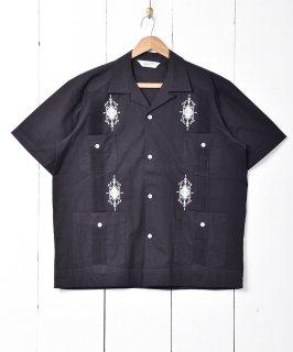 古着【3色展開】「BACKERS」 キューバシャツ ブラック 古着のネット通販 古着屋グレープフルーツムーン