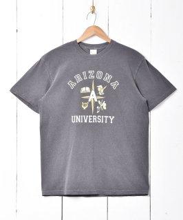 古着【2色展開】「BACKERS」カレッジプリントTシャツ チャコールグレー 古着のネット通販 古着屋グレープフルーツムーン