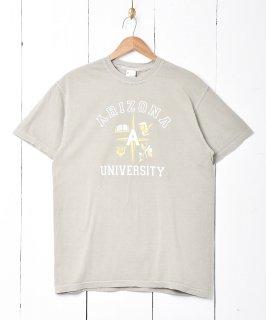 古着【2色展開】「BACKERS」カレッジプリントTシャツ オリーブ 古着のネット通販 古着屋グレープフルーツムーン