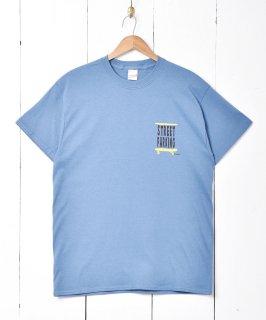 古着【2色展開】「Backers」スケボープリントTシャツ ブルー 古着のネット通販 古着屋グレープフルーツムーン