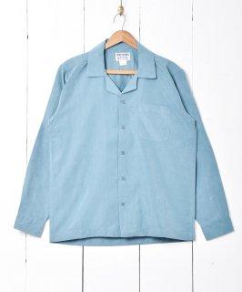 古着【4色展開】「TEMPTATION」ピーチスキン 長袖シャツ ブルー 古着のネット通販 古着屋グレープフルーツムーン