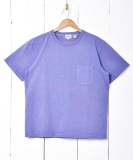 古着【4色展開】「TEMPTATION」ポケットTシャツ  パープル 古着のネット通販 古着屋グレープフルーツムーン