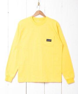 古着【6色展開】「BIVOUAC」ポケット ロングスリーブTシャツ イエロー 古着のネット通販 古着屋グレープフルーツムーン