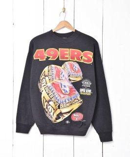 古着アメリカ製 49ERS プリントスウェット 古着のネット通販 古着屋グレープフルーツムーン