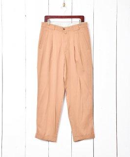 古着タックパンツ ブラウン W33 古着のネット通販 古着屋グレープフルーツムーン