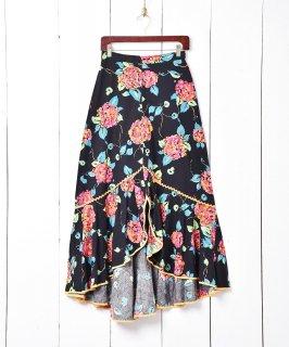古着花柄 デザインマキシスカート 古着のネット通販 古着屋グレープフルーツムーン