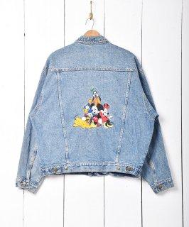 古着「Disney」 キャラクター 刺繍入りデニムジャケット 古着のネット通販 古着屋グレープフルーツムーン