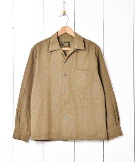 古着70's「Sportsman CALIFORNIA」ウール オープンカラー 長袖シャツ 古着のネット通販 古着屋グレープフルーツムーン