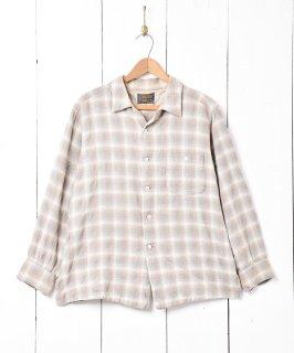 古着60's「PENDLETON」チェック柄 ウール 長袖シャツ 古着のネット通販 古着屋グレープフルーツムーン