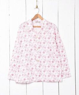 古着幾何学模様 パジャマセットアップ 古着のネット通販 古着屋グレープフルーツムーン