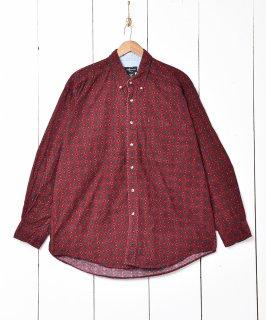 古着小紋柄 コーデュロイ長袖シャツ 古着のネット通販 古着屋グレープフルーツムーン