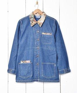 古着インド製 ゴブラン切り替え デニムカバーオール 古着のネット通販 古着屋グレープフルーツムーン