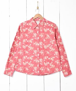 古着「L.L. Bean」花柄 コーディロイ 長袖シャツ 古着のネット通販 古着屋グレープフルーツムーン