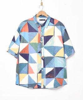 古着「TEMPTATION」総柄 半袖シャツ 古着のネット通販 古着屋グレープフルーツムーン