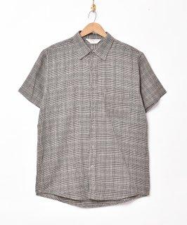 古着「TEMPTATION」グレンチェック柄 半袖シャツ 古着のネット通販 古着屋グレープフルーツムーン
