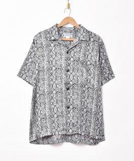 古着「TEMPTATION」パイソン柄 半袖シャツ 古着のネット通販 古着屋グレープフルーツムーン