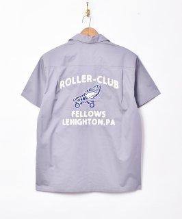 古着【2色展開】「TEMPTATION」チェーンステッチ オープンカラーシャツ グレー 古着のネット通販 古着屋グレープフルーツムーン
