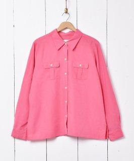 古着長袖ビビッドカラーシャツ 古着のネット通販 古着屋グレープフルーツムーン