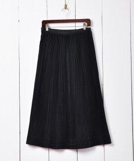 古着アコーディオンプリーツスカート ブラック 古着のネット通販 古着屋グレープフルーツムーン