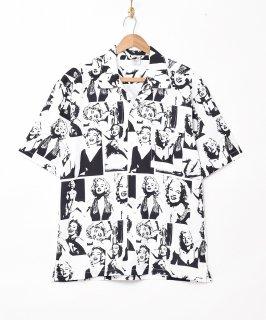 古着「TEMPTATION」マリリンモンロー 総柄 半袖シャツ 古着のネット通販 古着屋グレープフルーツムーン
