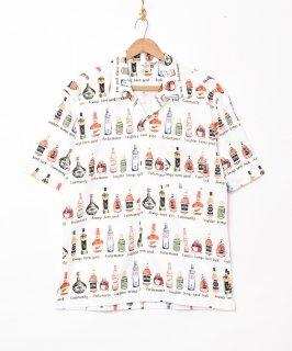 古着「TEMPTATION」リキュール総柄 半袖シャツ 古着のネット通販 古着屋グレープフルーツムーン