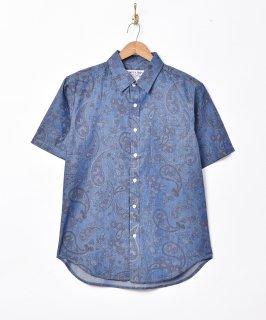 古着「TEMPTATION」ペイズリー柄 シャンブレーシャツ 古着のネット通販 古着屋グレープフルーツムーン