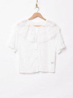 古着「Meridian」半袖 総レースブラウス 古着のネット通販 古着屋グレープフルーツムーン