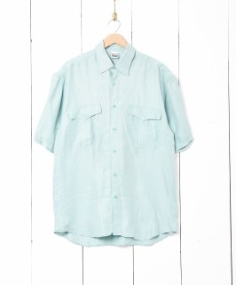 古着半袖シルクシャツ ミントグリーン 古着のネット通販 古着屋グレープフルーツムーン