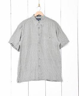 古着総柄半袖シルクシャツ ミントグリーン 古着のネット通販 古着屋グレープフルーツムーン
