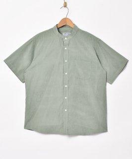 古着【4色展開】「TEMPTATION」ピーチスキンスタンドカラー 半袖シャツ グリーン 古着のネット通販 古着屋グレープフルーツムーン