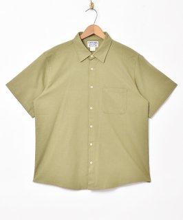 古着【2色展開】「TEMPTATION」半袖コットンリネンシャツ グリーン 古着のネット通販 古着屋グレープフルーツムーン