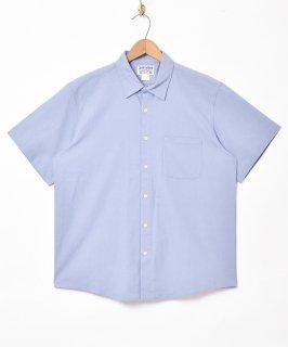 古着【2色展開】「TEMPTATION」半袖コットンリネンシャツ サックスブルー 古着のネット通販 古着屋グレープフルーツムーン