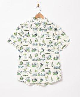 古着「Emerald Motel」総柄 半袖シャツ 古着のネット通販 古着屋グレープフルーツムーン