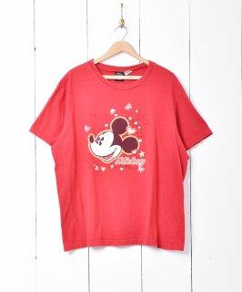 古着ラメ入りミッキープリントTシャツ 古着のネット通販 古着屋グレープフルーツムーン