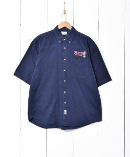 古着ミッキーマウス 刺繍 半袖シャツ 古着のネット通販 古着屋グレープフルーツムーン