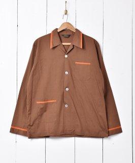 古着パジャマシャツ ブラウン 古着のネット通販 古着屋グレープフルーツムーン