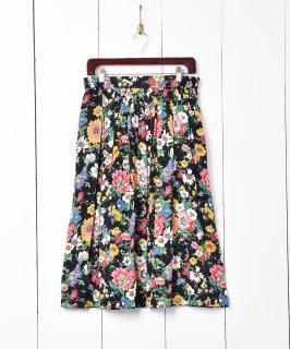 古着花柄 ギャザースカート 古着のネット通販 古着屋グレープフルーツムーン