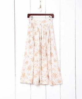古着フラワーパターン フロントボタン スカート 古着のネット通販 古着屋グレープフルーツムーン