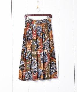 古着総柄 ギャザースカート 古着のネット通販 古着屋グレープフルーツムーン