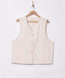 古着【2色展開】「Meridian」コットンベスト ホワイト 古着のネット通販 古着屋グレープフルーツムーン