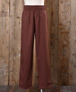 古着【6色展開】「Backers」コットンリネン イージーパンツ ブラウン 古着のネット通販 古着屋グレープフルーツムーン