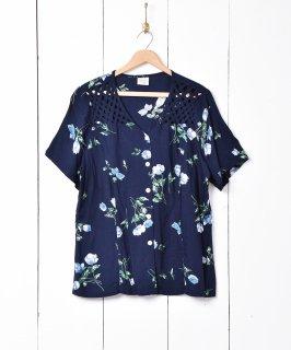 古着ネットデザイン 花柄半袖シャツ 古着のネット通販 古着屋グレープフルーツムーン