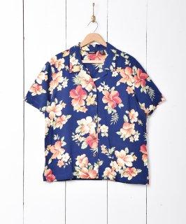 古着花柄 オープンカラー半袖シャツ 古着のネット通販 古着屋グレープフルーツムーン