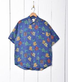 古着総柄 シルク 半袖シャツ 古着のネット通販 古着屋グレープフルーツムーン